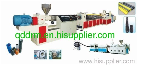 PE Carbon Screw Reinforcing Pipes Production Line