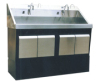 ZY78 Stainless Steel Inductive Hand Washing Sink for Two Persons