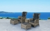 Patio wicker furniture rattan sofa set