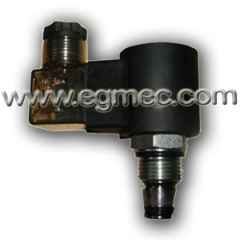 Hydraulic Cartridge Type 2-Way 220VAC Solenoid Operated Normally Closed Valve
