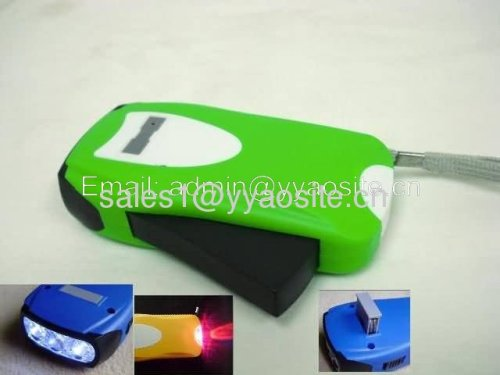 3led hand manual dynamo torch KT-D004 battery replaceable torch