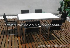outdoor wicker furniture stainless dining room set