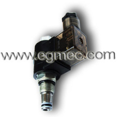 Hydraulic Cartridge Poppet Type 2 Way Position Solenoid Operated Normal Open Valve