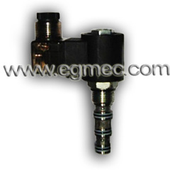 Hydraulic Cartridge Type 3 Way Solenoid Operated Control Valve