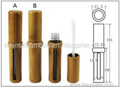 Round bamboo lip gloss tube