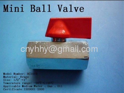 Brass ball valve,