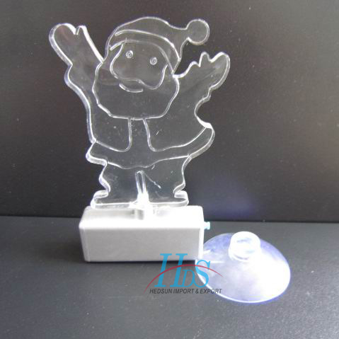 LED snowman light with sucker