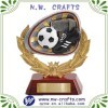 Gold Wreath soccer trophy resins
