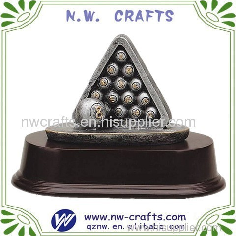 Triangle billiards ball trophy statue