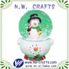 While Snowman Christmas Globe Decoration