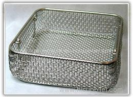 surgical metal basket and medical tray