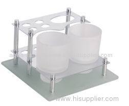 Table Toothbrush Holder & Toothpaste with double tumbler holder