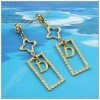 18k gold plated earring 1220343