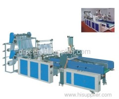 DRHQ-400X2 Fully Automatic Double Line Plastic T shirt Bag Making Machine