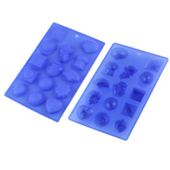 14 Cavities Silicone Chocolate & Cookie Mould Ice Cube