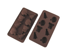 8 Cavities Silicone Chocolate& Cookie Mold -- X'max