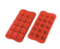 15 Cavities Silicone Chocolate & Cookie Mold -- Cube