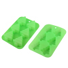 Christmas green tree Shape 6 Cavities Silicone Cake Pan Baking Mold