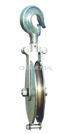 high-speed single sheave strining pulley block