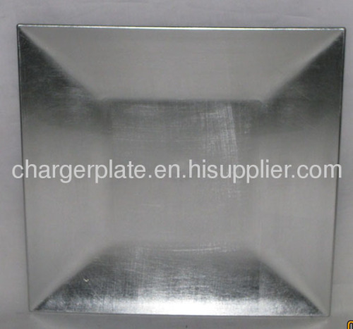 Wholesale Silver Plastic Charger Plate/China charger plates/disposable plates