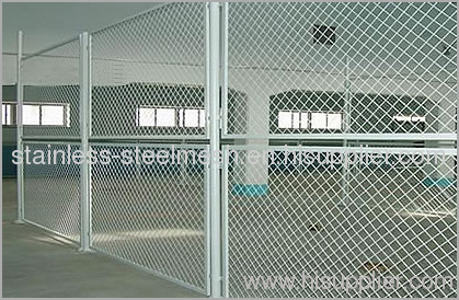 Steel grating wire mesh fence