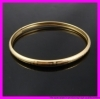 18k gold plated bangle FJ 1710055