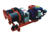 Three tons dual-bullwheel powered tower erection winch conductor tension stringing and cable layout