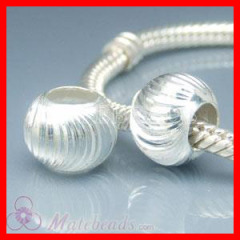 European Sterling Silver Corrugated Smart Bead Stopper Charms- Fit European style bracelets