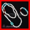 Pearl Jewelry Set with 70cm Fashion Pearl Necklace and 18cm Pearl Bracelet