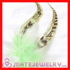 Natural Striped Green Grizzly Rooster Feather Hair Extensions