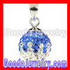 10mm Blue-White Sterling Silver Czech Crystal Pendant for sale
