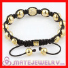 Shamballa Gold Plated Sterling Silver Beads with Inspired Stone Bracelet