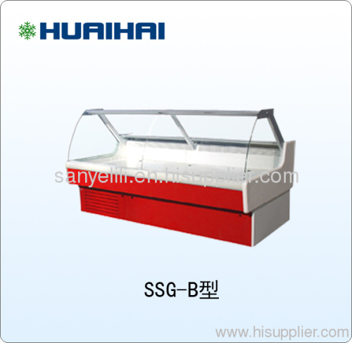 China HUAIHAI Supermarket Deli Chest Display Refrigerating Case Showcase Freezer