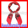Hand Painted Large Square Silk Scarves Hand Painted red Silk head Scarf wholesale