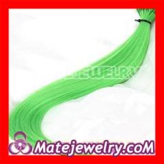 Fashion Green Synthetic Feather Hair Extensions