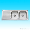 1200*500*150mm double bowl stainless steel sink
