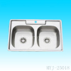double square stainless steel kitchen sink