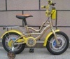 "14"" COOL YELLOW BICYCLE FOR KIDS"
