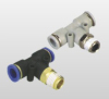 Tee series plastic push in fittings