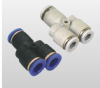 Straight, Elbow, Tee, X, Y plastic push in fittings