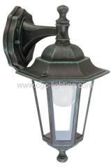 die-cast aluminium 6 side wall mounted garden lights
