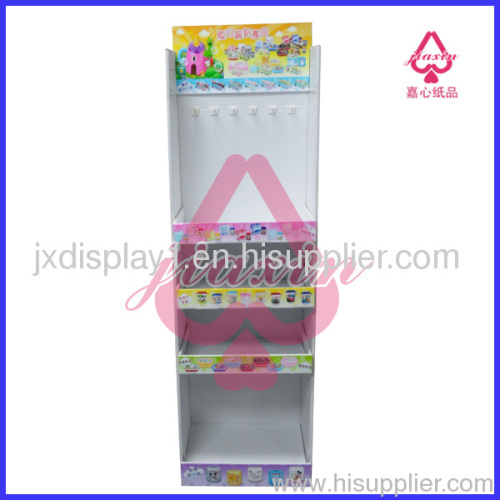 Portable Gifts Cardboard Display Rack with plastic hooks