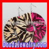 Basket Ball Wives Gold Rhodium Brown Pink Bamboo Earrings Cheap