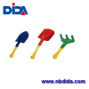 Garden spade and rake with wood handle