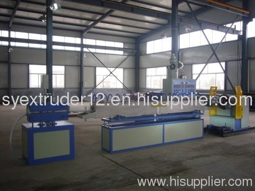 Cylindrical dripper pipe production line