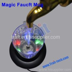 Magic Faucet Beer Mug Water Fountain Night Light Ornament