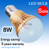 SMD5630 E27 LED 8W Bulb lamp & 8W led dimmable bulb indoor lighting