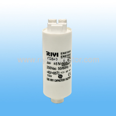 85℃ 9uf plastic push wire type with stud lamp capacitor