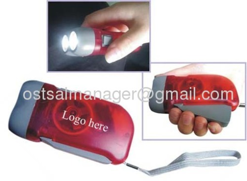 led rechargeable flashlight hand press lamp