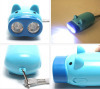 2LED hand press pig torch
